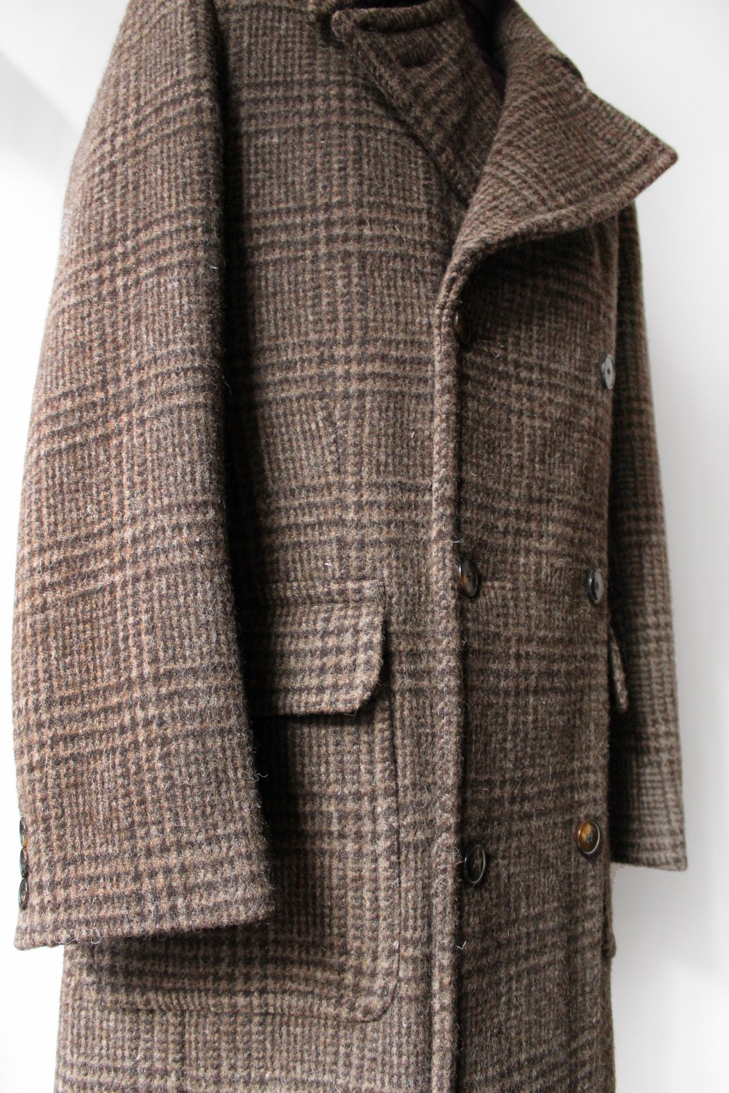 9febd2c518b Brown check vented-back Windsor overcoat